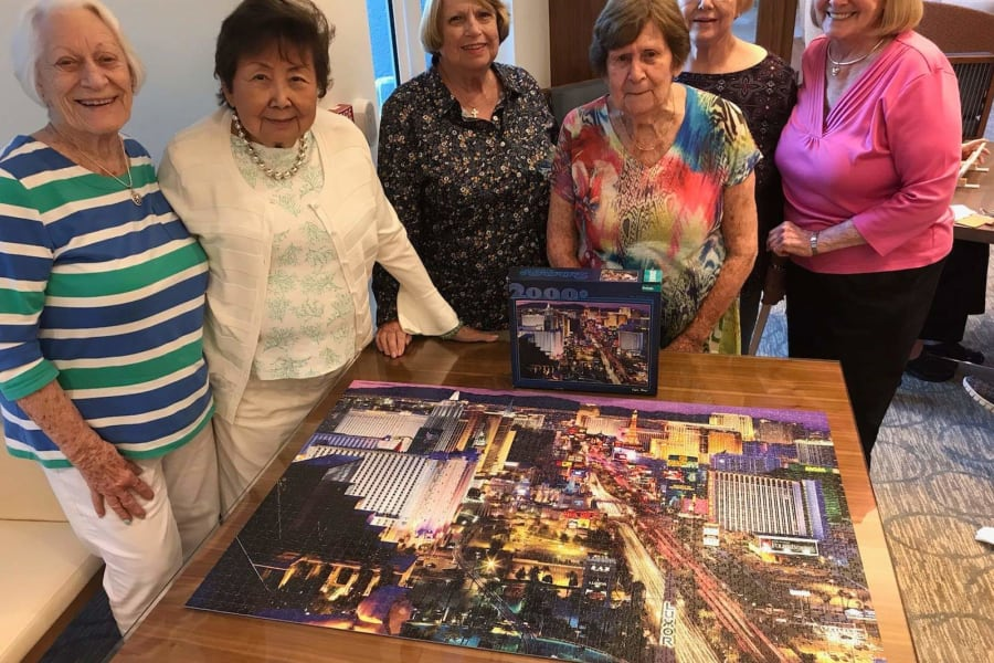 Puzzle social at All Seasons Ann Arbor in Ann Arbor, Michigan