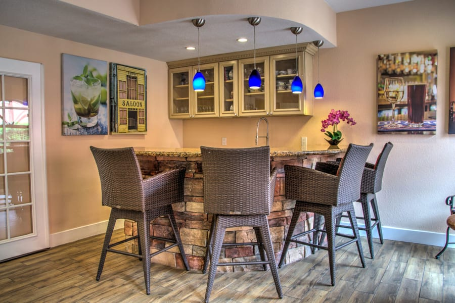 One of many resident common areas to gather with family and friends at Casa Del Rio Senior Living in Peoria, Arizona