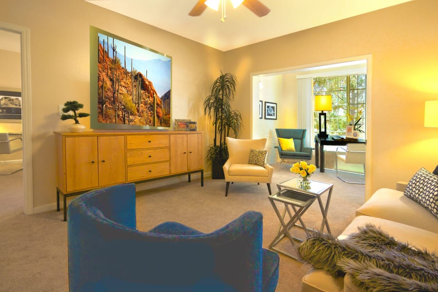 Well-decorated resident home at Casa Del Rio Senior Living in Peoria, Arizona
