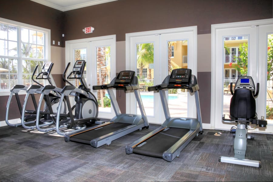 Well-equipped onsite fitness center at Riverwalk Pointe in Jupiter, Florida