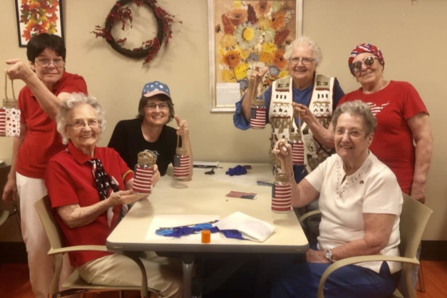 Fourth of July celebration at Bella Vista Senior Living in Mesa, Arizona