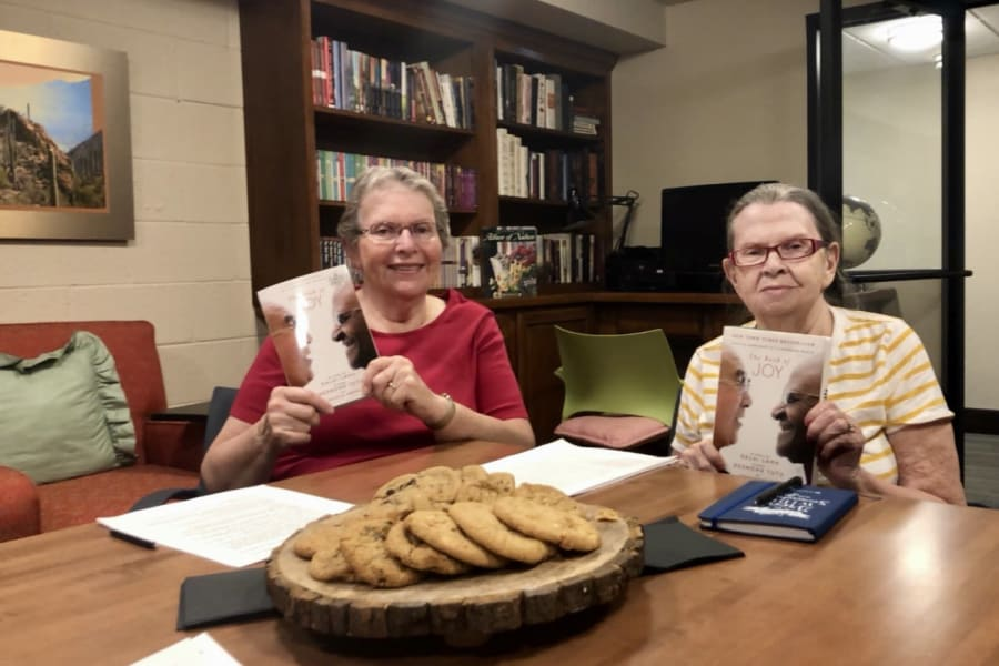 Book club at Bella Vista Senior Living in Mesa, Arizona