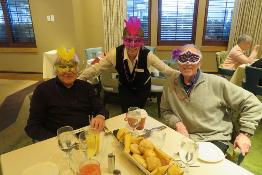 Mardi Gras Celebration in the Main Dining Room