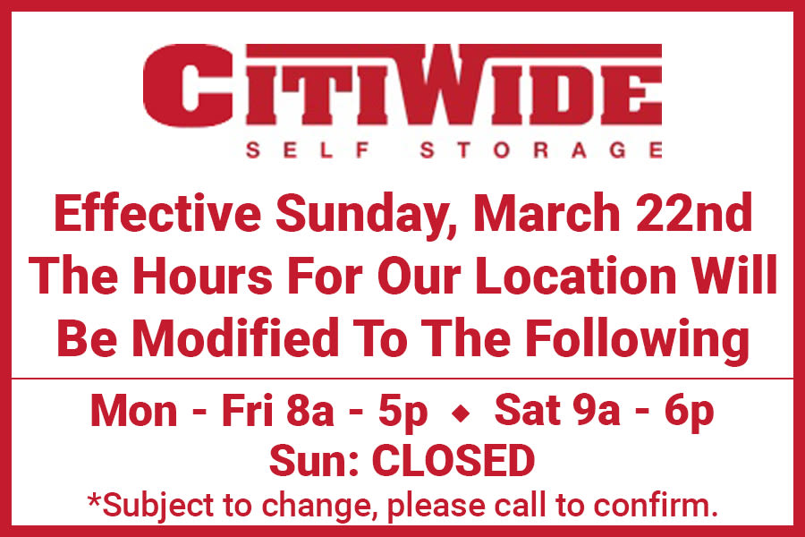 Promotion at CitiWide Self Storage