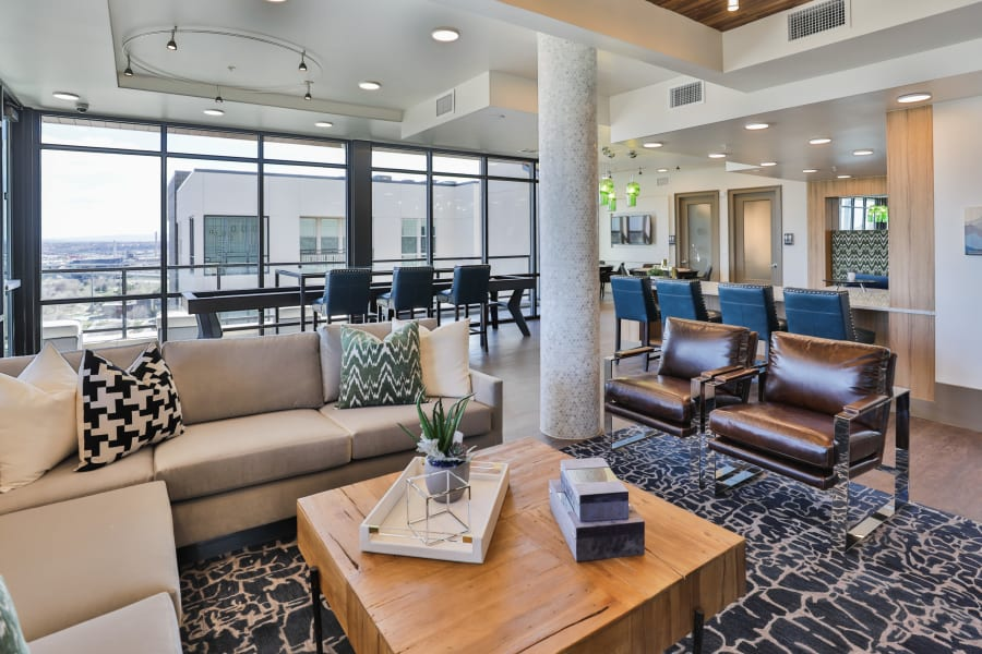 The Alcott offers a Beautiful Resident Lounge in Denver, Colorado