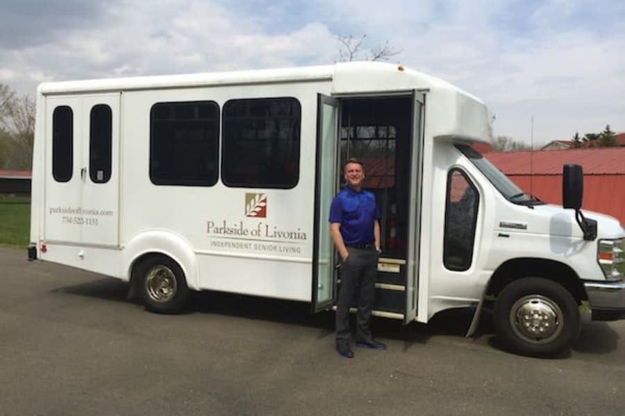 Community bus at Parkside of Livonia in Livonia, Michigan