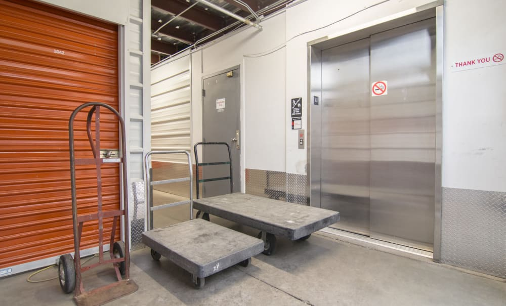Locked storage unit at Prime Storage in Avon, Colorado