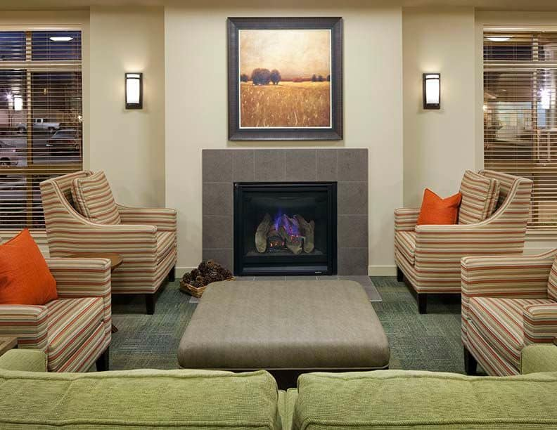 Resident fireplace at Affinity at South Hill