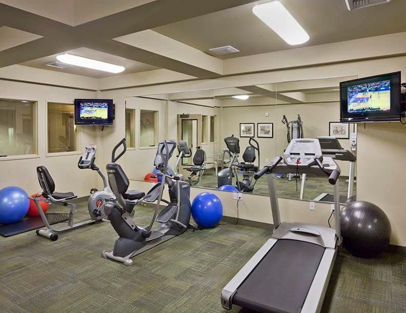Fully-equipped fitness center at Affinity at South Hill