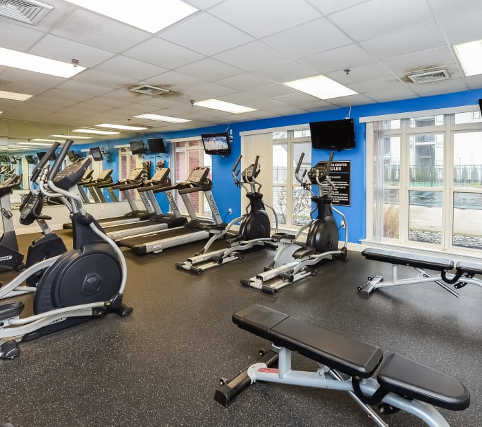 Bishop's View Apartments & Townhomes offers a fitness center in Cherry Hill, NJ