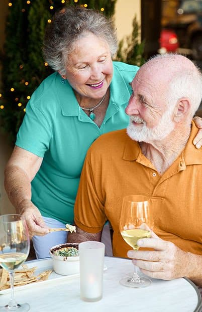Professional dining at the senior living community in Costa Mesa