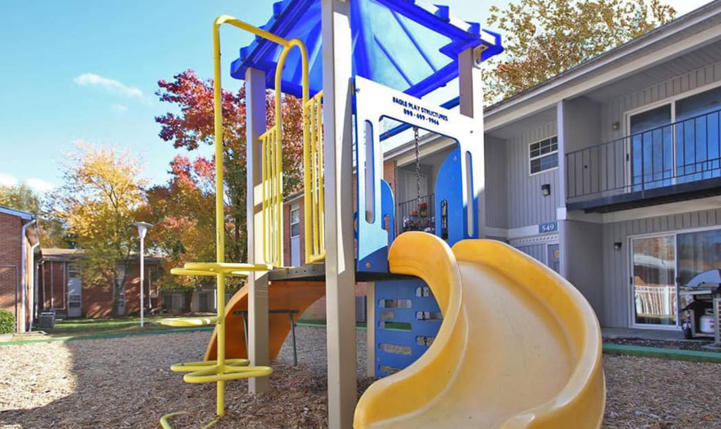 Playground for kids at The Residences at Forest Grove in Newport News, Virginia