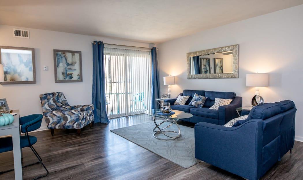 Living Room at Apartments in Newport News, Virginia