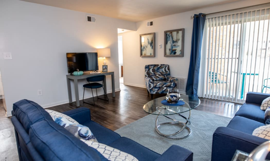 The Residences at Forest Grove offers a Living Room in Newport News, Virginia