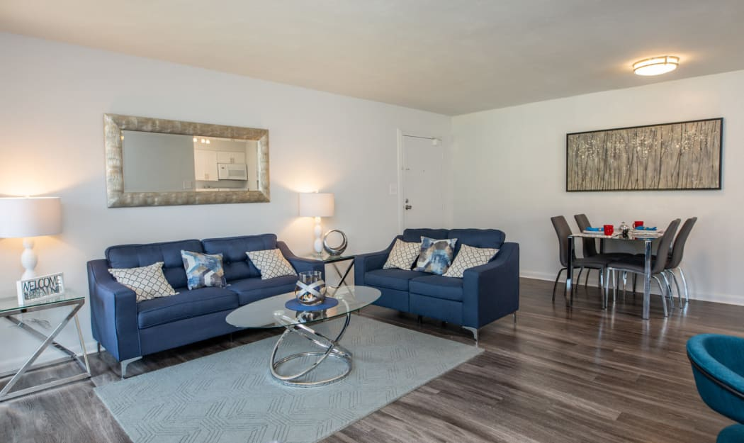 Living Room at The Residences at Forest Grove in Newport News, Virginia