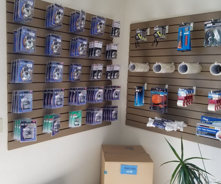 Packing and moving supplies sold at Sundance Self Storage in Roseville, California