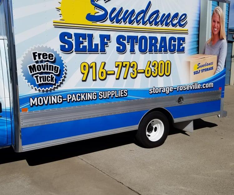 Moving Truck at Sundance Self Storage in Roseville, California