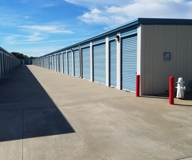 Ground-level units at Sundance Self Storage in Roseville, California