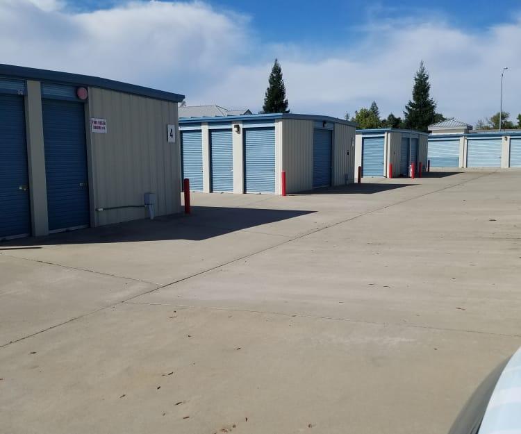 Exterior units at Sundance Self Storage in Roseville, California