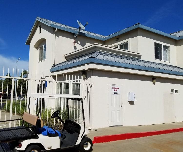 Gated entrance at Sundance Self Storage in Roseville, California