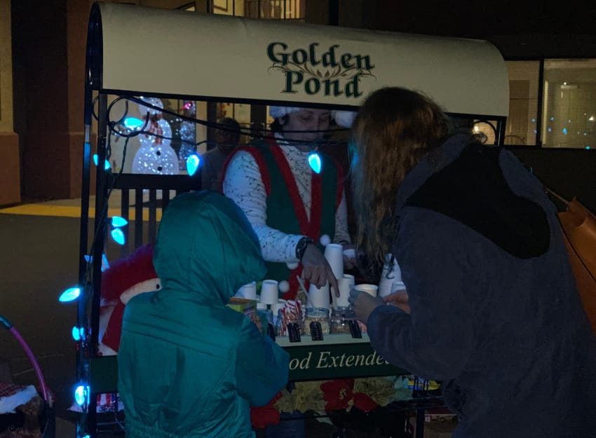 Hot chocolate bar at at Golden Pond Retirement Community in Sacramento, California