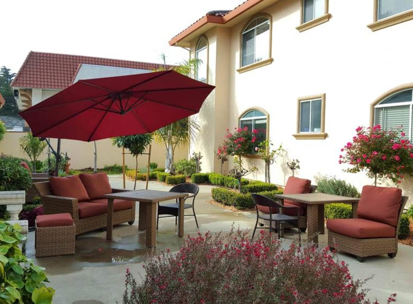 Patio available at Peninsula Reflections in Colma, California