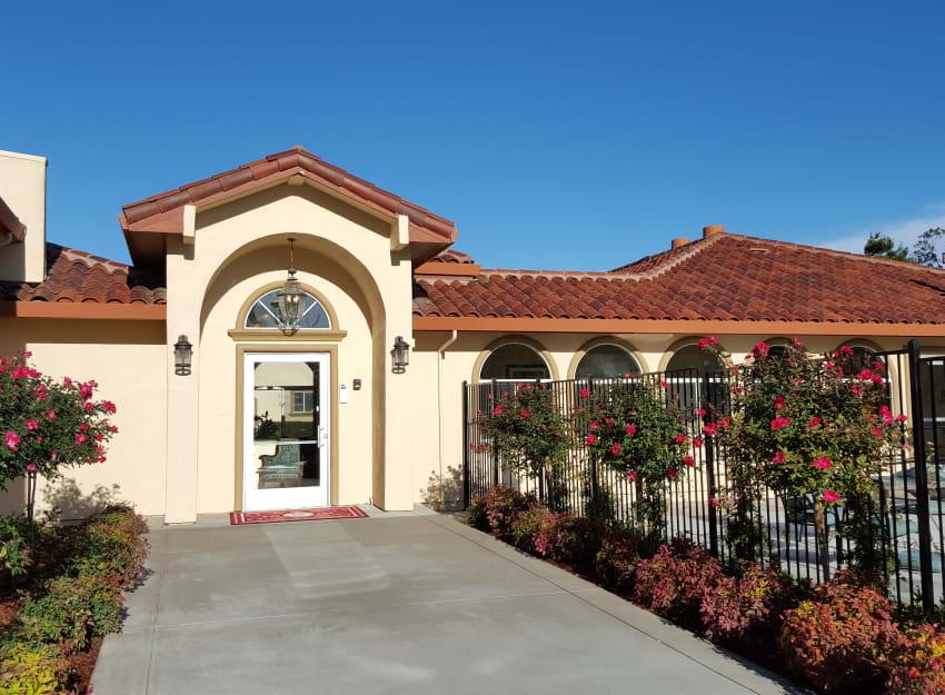 Front entrance at Peninsula Reflections in Colma, California