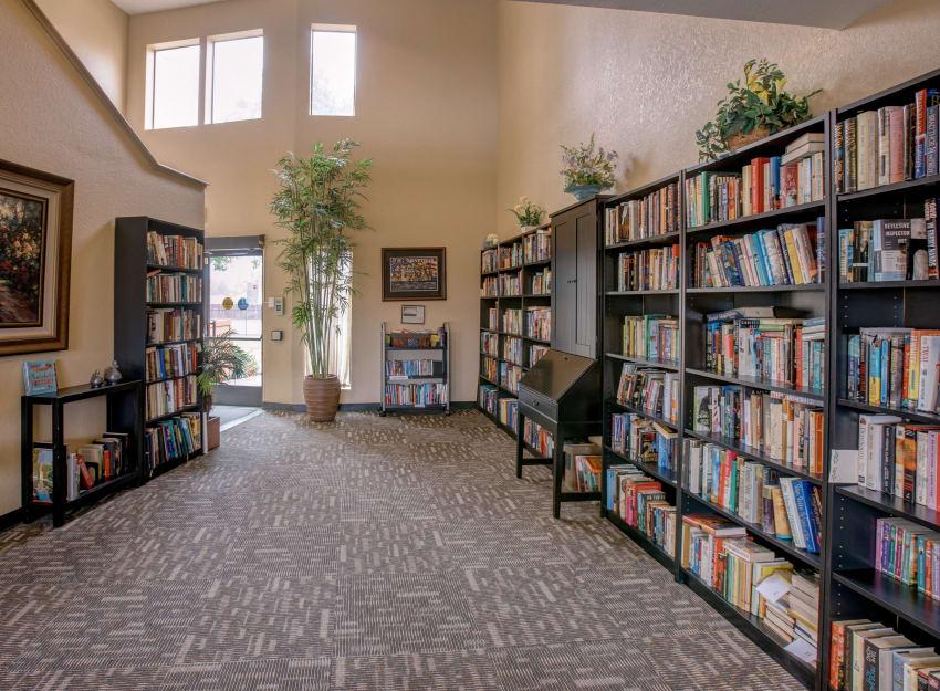 Library at Golden Pond Retirement Community in Sacramento, California