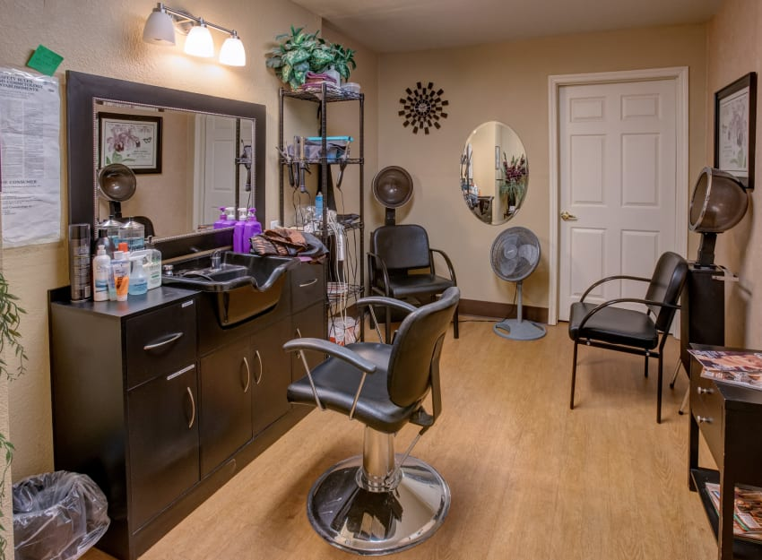 Salon at Golden Pond Retirement Community in Sacramento, California