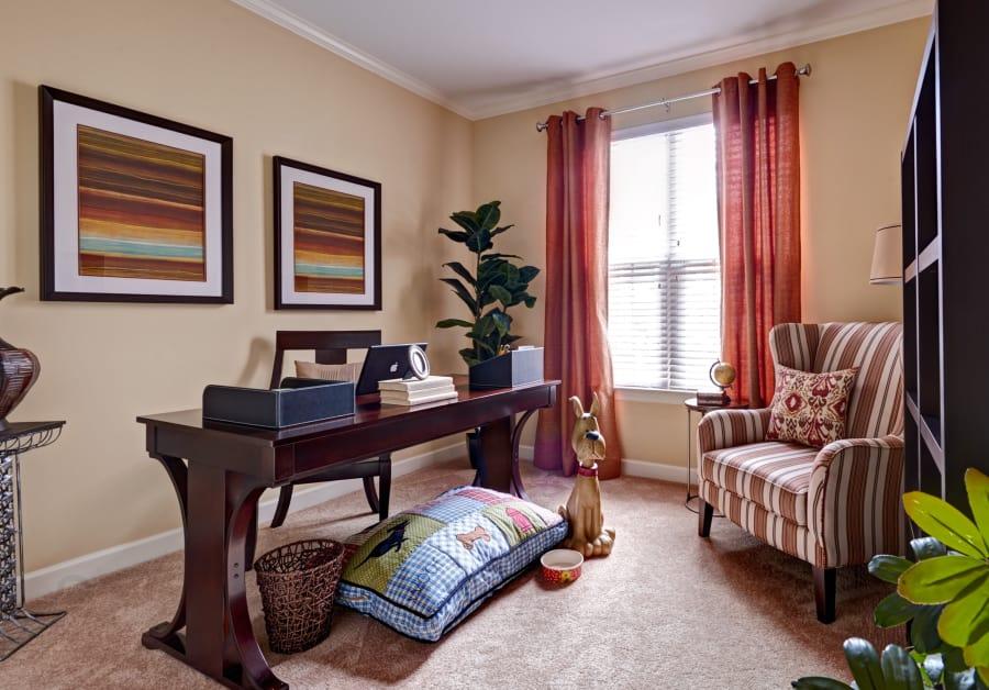 Office room at Waltonwood Providence in Charlotte, NC