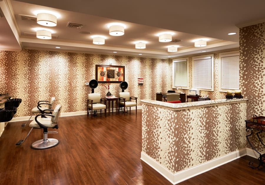 Spa and salon at Waltonwood Providence in Charlotte, NC