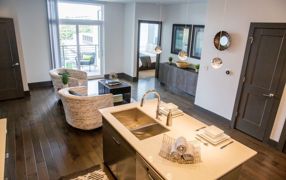 Beautiful open floor plans at Village 21 in Nashville, Tennessee