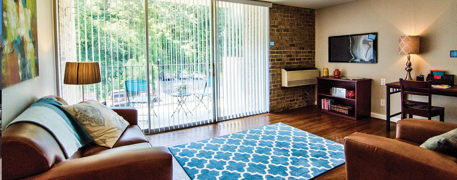 Floor plans at University Apartments
