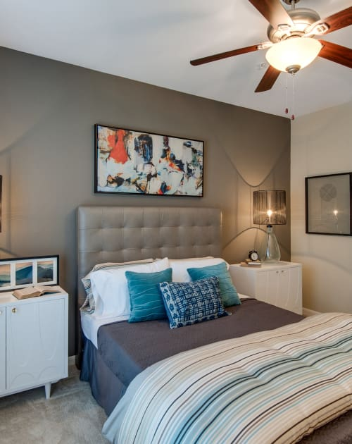 Master bedroom at Legacy at Meridian in Durham