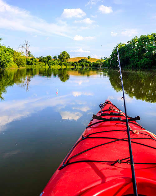 Kayaking and fishing at The Enclave of Hardin Valley in Knoxville, Tennessee