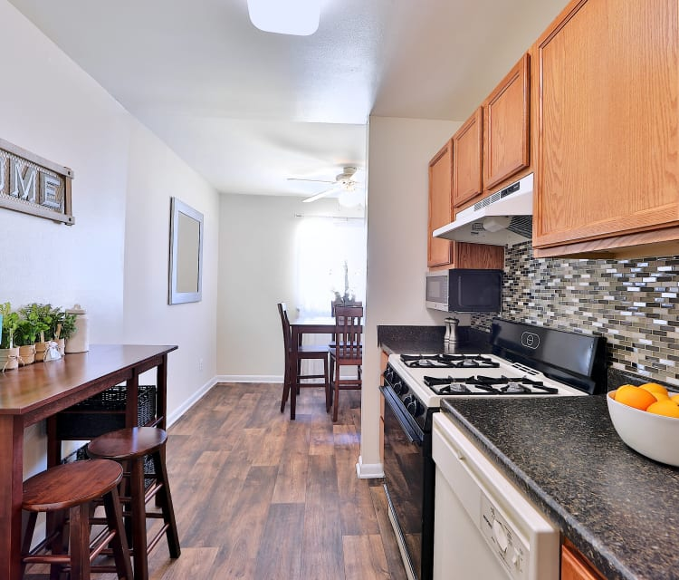 Kitchen room at Cedar Creek Apartment Homes in Glen Burnie, Maryland