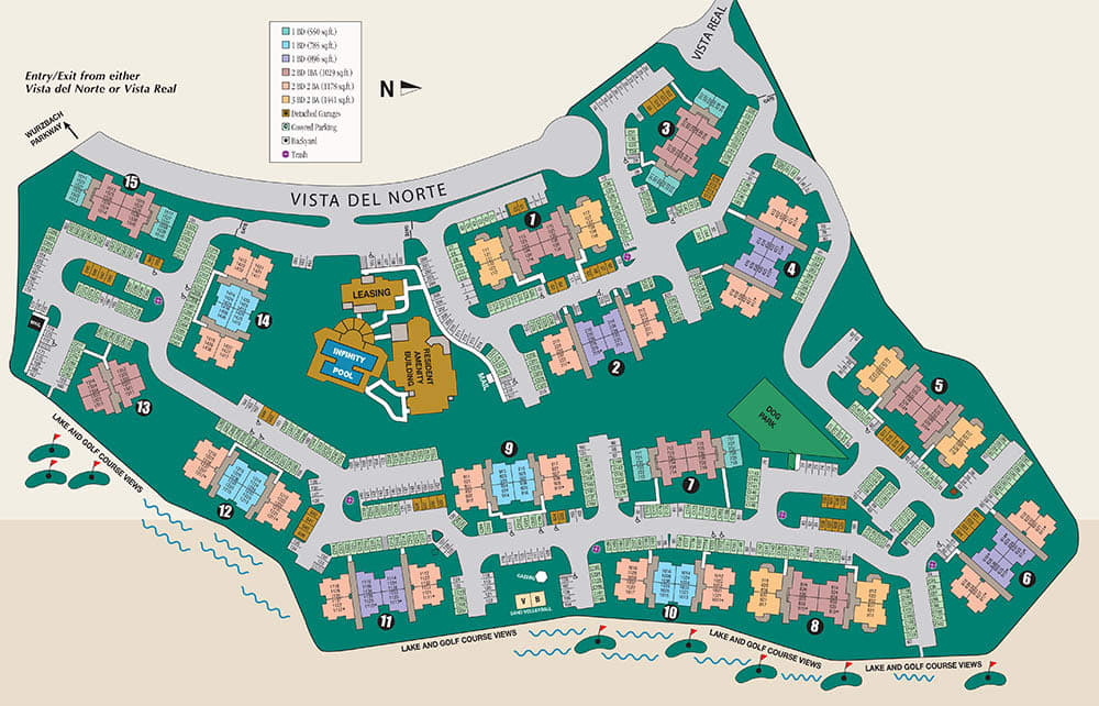 Site map of Villas of Vista Del Norte in San Antonio, TX