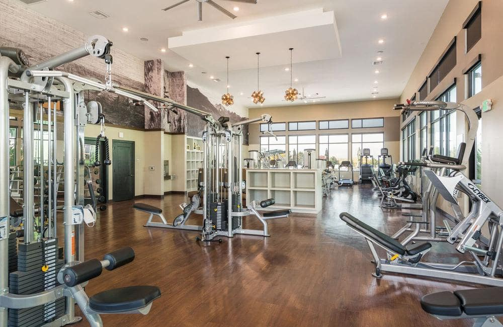 Our apartments in Highlands Ranch, Colorado showcase a beautiful fitness center