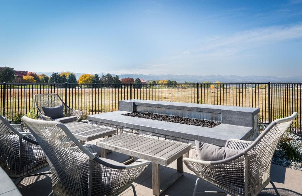 Beautiful private patio in our Highlands Ranch, Colorado apartments