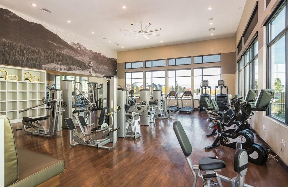 Beautiful fitness center at Solana Lucent Station in Highlands Ranch, Colorado