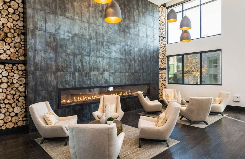 Beautiful seating area at apartments in Highlands Ranch, Colorado