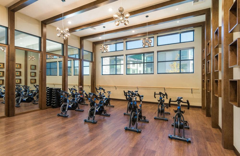 Beautiful fitness center at apartments in Highlands Ranch, Colorado