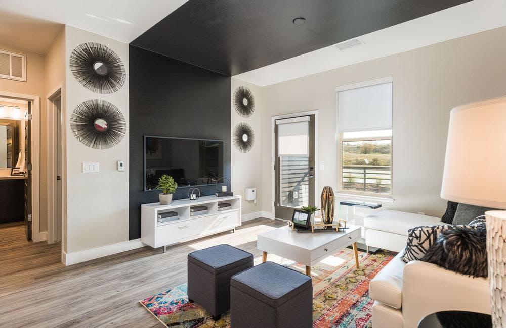 Beautiful TV room at apartments in Highlands Ranch, Colorado