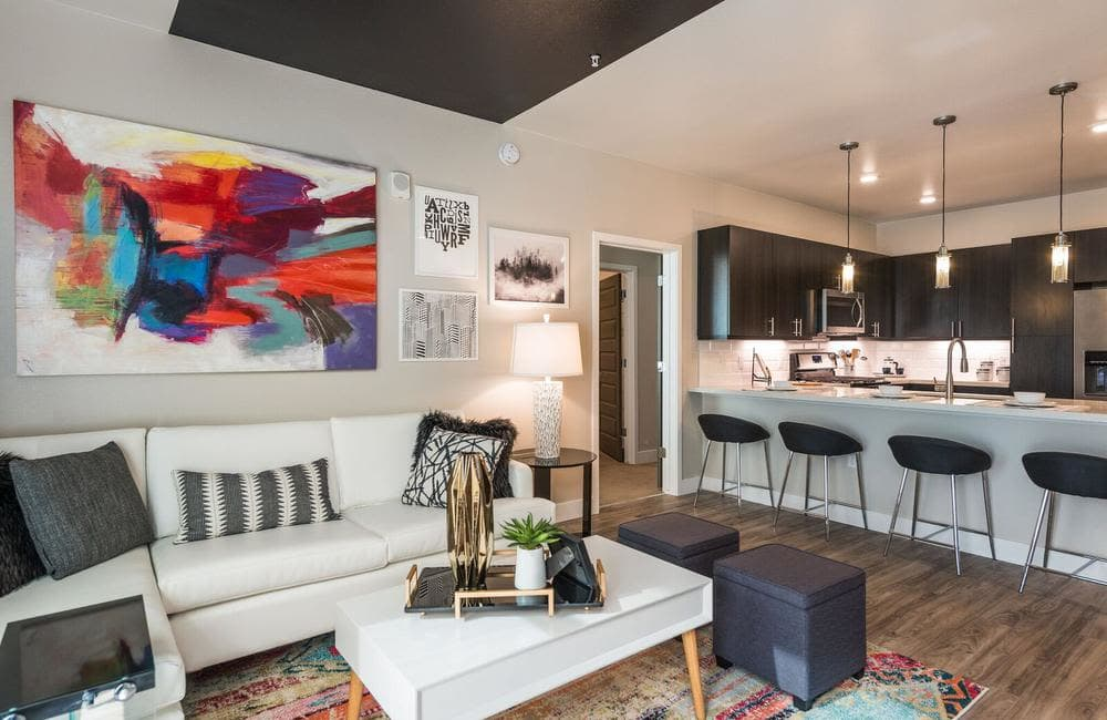 Drawing room at apartments in Highlands Ranch, Colorado