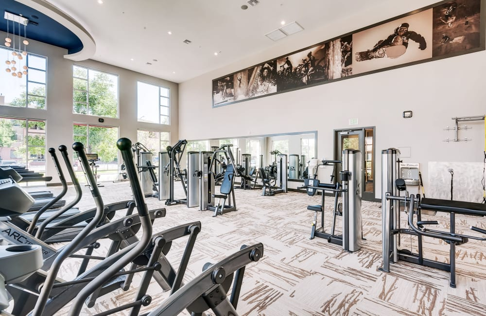 Luxury fitness center at Solana Cherry Creek in Denver, Colorado