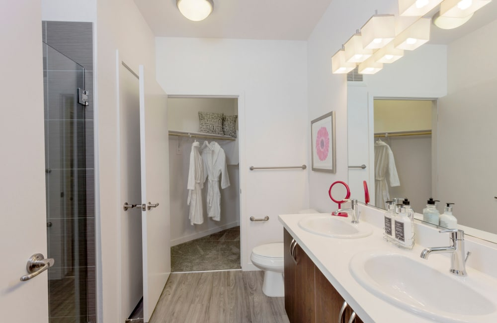 Example bathroom at apartments in Denver