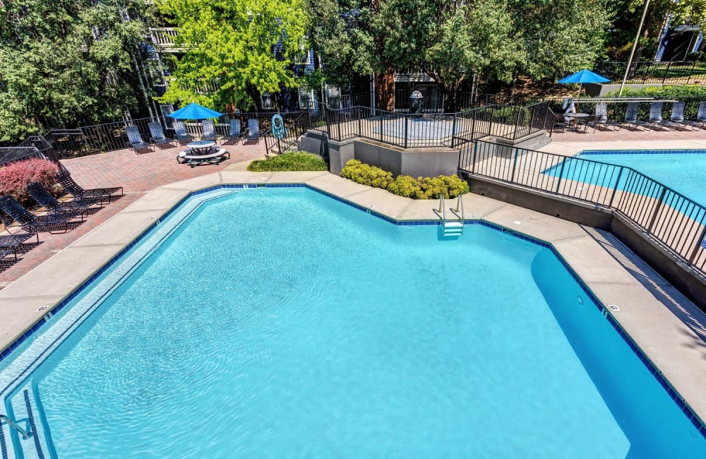 Swimming pool on a beautiful day at Lyric on Bell in Antioch, Tennessee