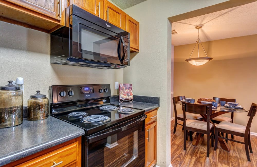 Partial view of dining nook from model home's kitchen at Lyric on Bell in Antioch, Tennessee