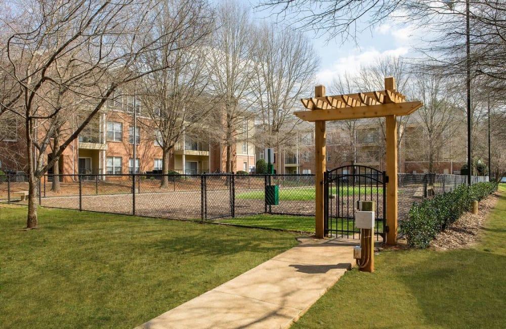 Onsite bark park at Presley Oaks in Charlotte, North Carolina