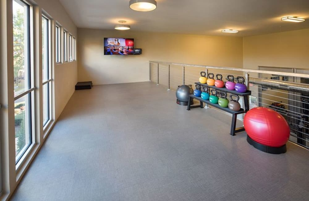 Yoga studio at Presley Oaks in Charlotte, North Carolina